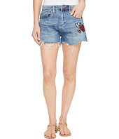 Blank NYC - Denim Cut Off Shorts with Embroidered Detail in Inside Joker