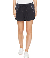 Blank NYC - Drawstring Shorts with Zipper Detail in Midnight Hour