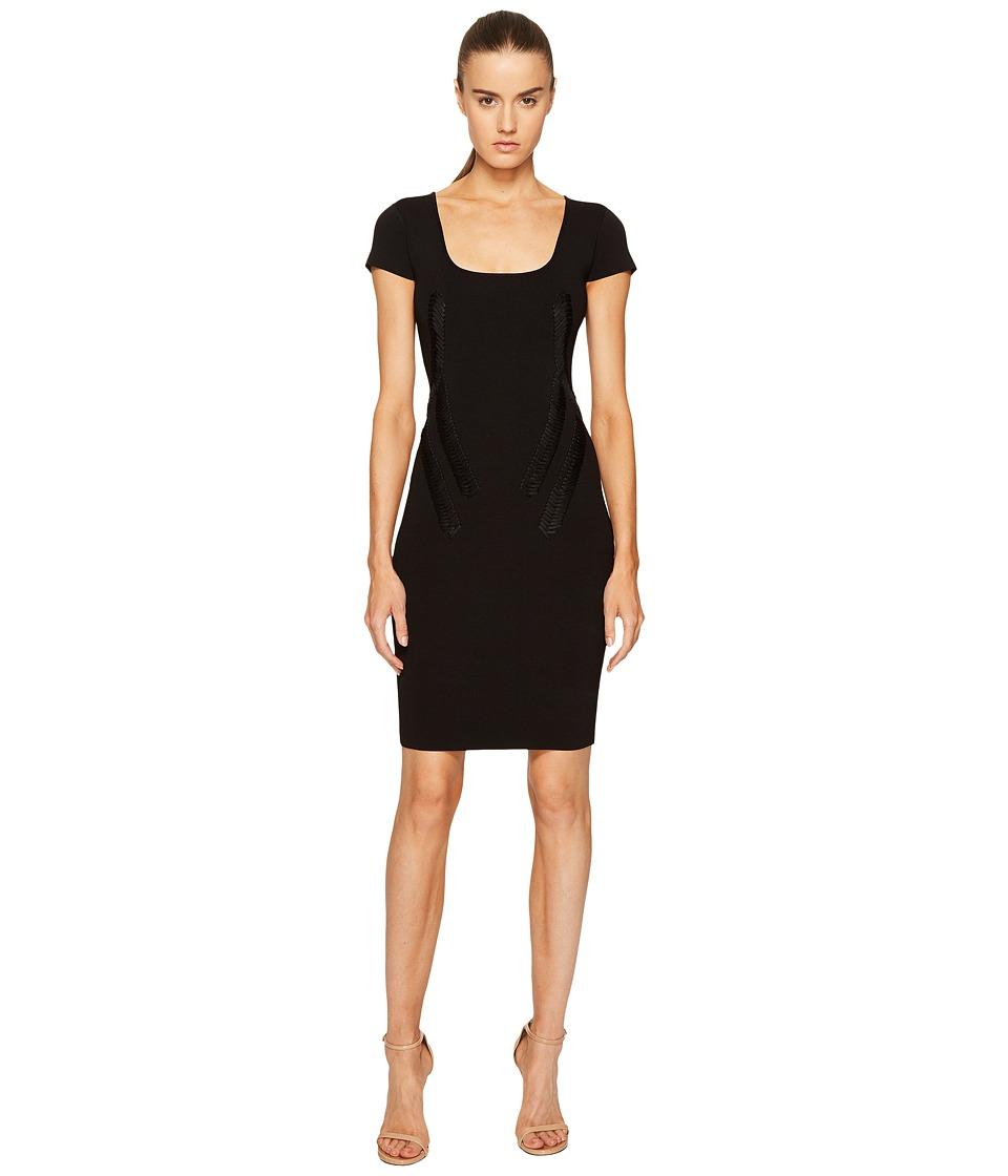 Zac Posen - Rib Knit Scoop Neck Short Sleeve Dress