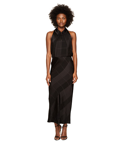 Zac Posen Satin Crepe Jacquard Sleeveless Dress