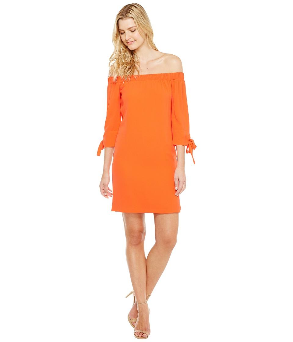 Vince Camuto Crepe Off the Shoulder Shift Dress (Coral) Women