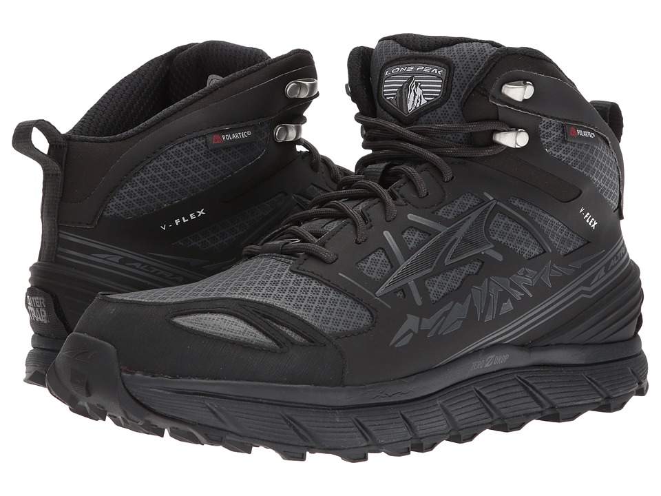 Altra Footwear - Lone Peak 3 Mid Neoshell (Black) Mens Shoes