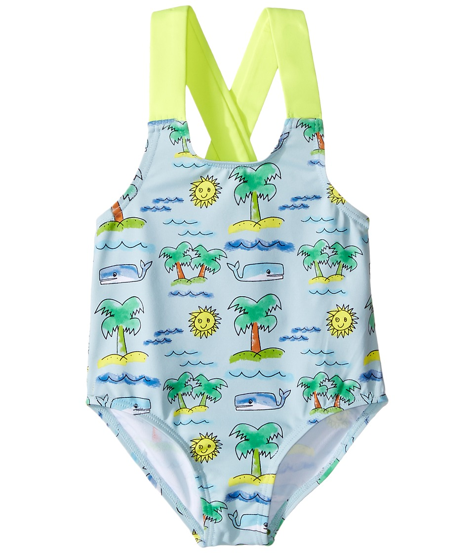 Stella McCartney Kids - Sunnee Fluro Beach Print Swimsuit