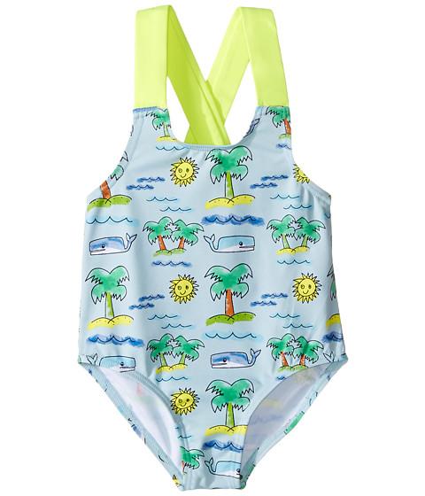 Stella McCartney Kids Sunnee Fluro Beach Print Swimsuit (Infant/Toddler)