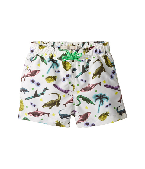 Stella McCartney Kids Taylor Swim Sticker Print Swim Shorts (Infant/Toddler)