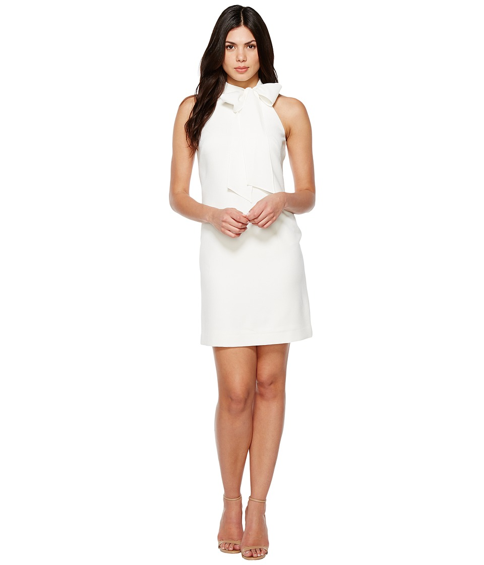 Vince Camuto Crepe Halter with Bow at Neck (Ivory) Women