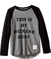 The Original Retro Brand Kids - This Is My Weekend Shirt Raglan Long Sleeve Tee (Big Kids)