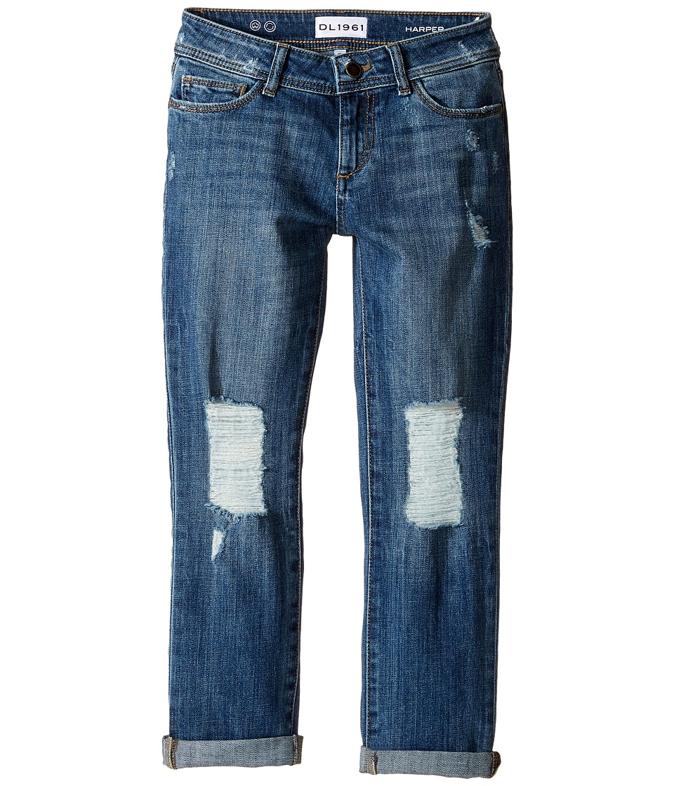 DL1961 Kids Harper Boyfriend Jeans in Collision (Big Kids) (Collision) Girl