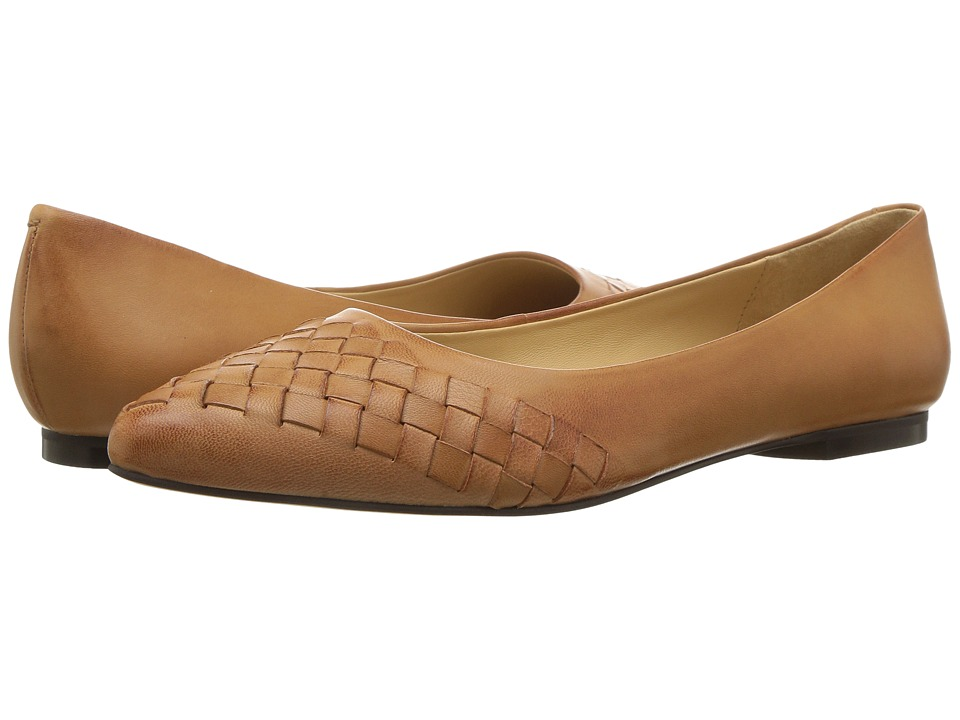 Trotters Estee Woven (Tan Woven Leather) Flats