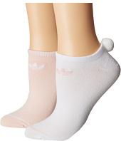 adidas - Originals Pom 2-Pack No Show Socks