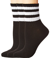 adidas - Originals Ankle 3-Stripe 3-Pack Quarter Socks