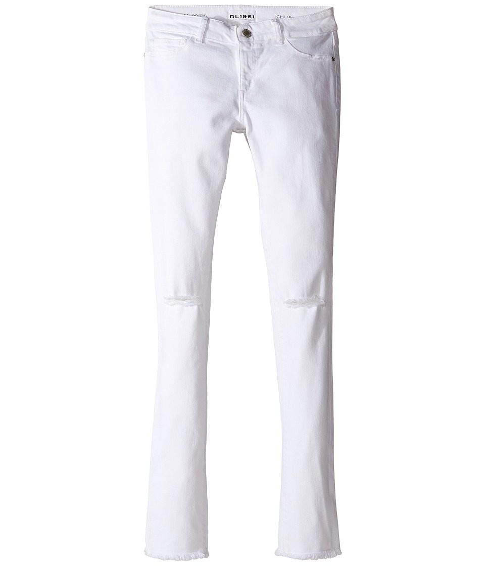 DL1961 Kids Chloe Skinny Jeans in Eggshell (Big Kids) (Eggshell) Girl