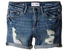 DL1961 Kids Piper Unstitched Cuffed Jean Shorts in Instinct (Big Kids)