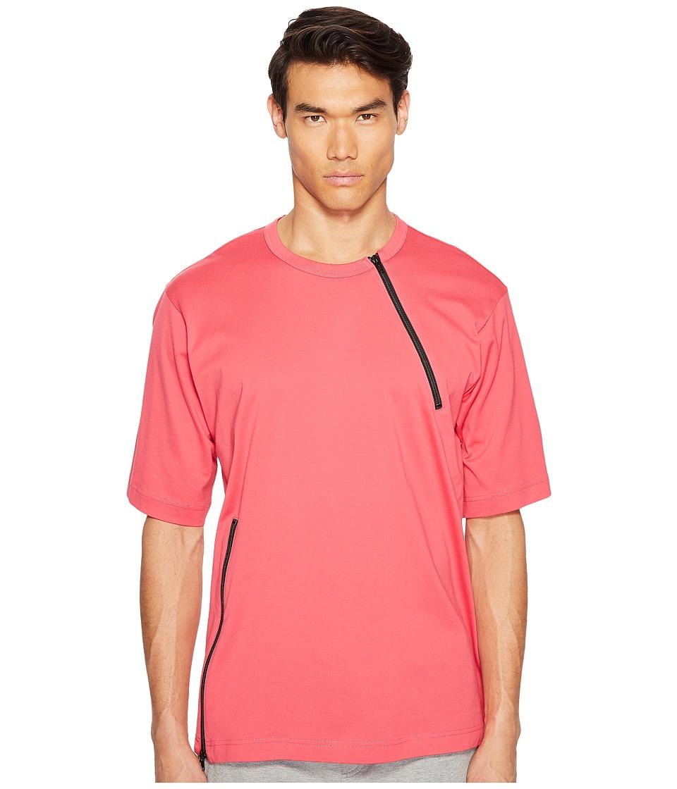 adidas Y-3 by Yohji Yamamoto M Jersey Zip Tee (Blazer Pink S13) Men