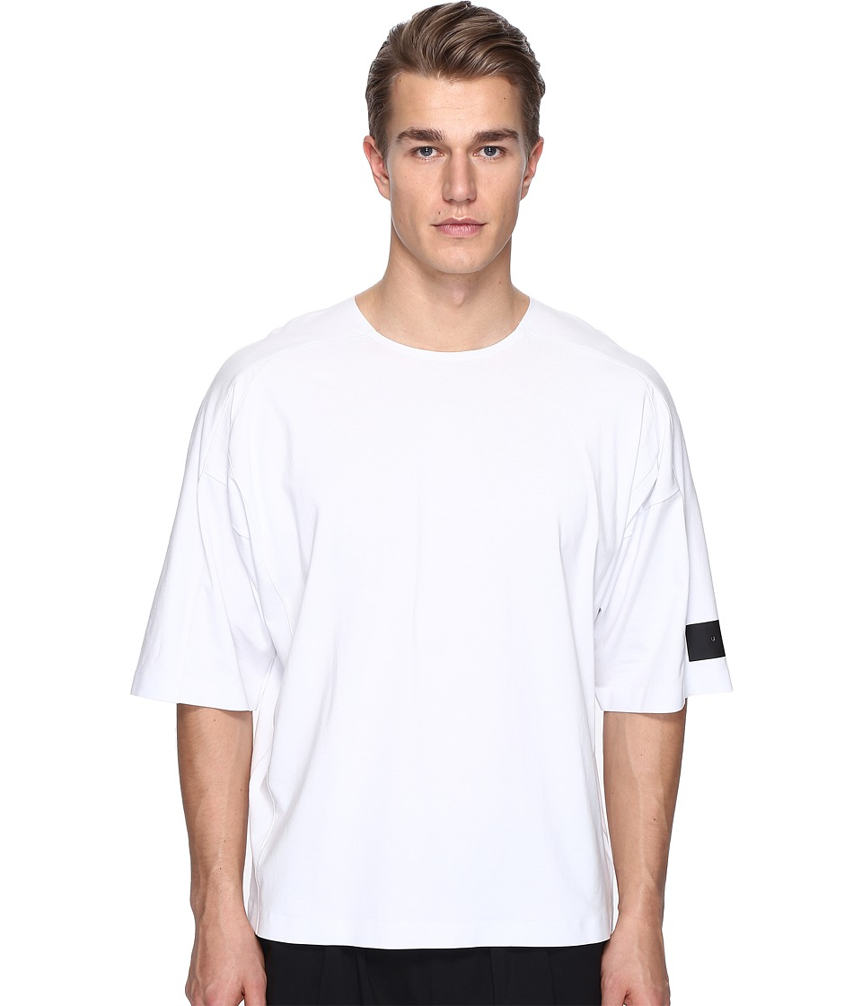adidas Y-3 by Yohji Yamamoto M Skylight Short Sleeve Tee (Crystal White S16) Men