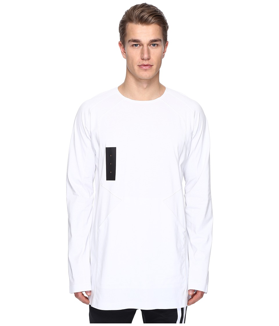 adidas Y-3 by Yohji Yamamoto M Skylight Long Sleeve Tee (Crystal White S16) Men