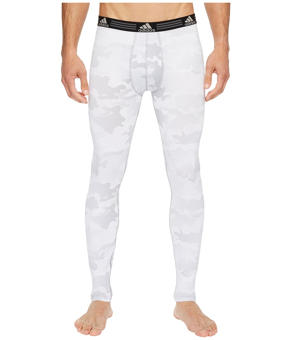 adidas Climalite(r) Graphic Single Base Layer Pants (White Data Camo) Men