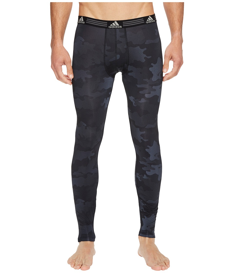 adidas Climalite(r) Graphic Single Base Layer Pants (Black Data Camo) Men