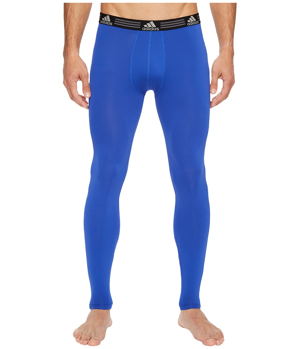 adidas Climalite Single Base Layer Pants (Bold Blue) Men