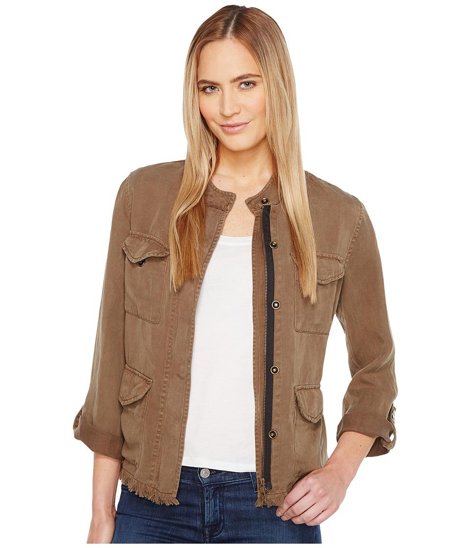 Sanctuary Roy Frayed Surplus Jacket (New Brown Olive) Women
