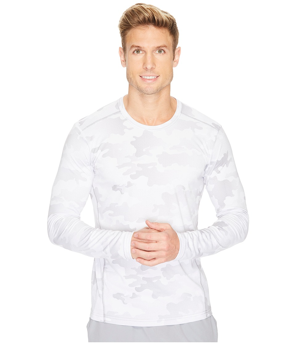 adidas Climalite(r) Graphic Single Long Sleeve Crew (White Data Camo) Men