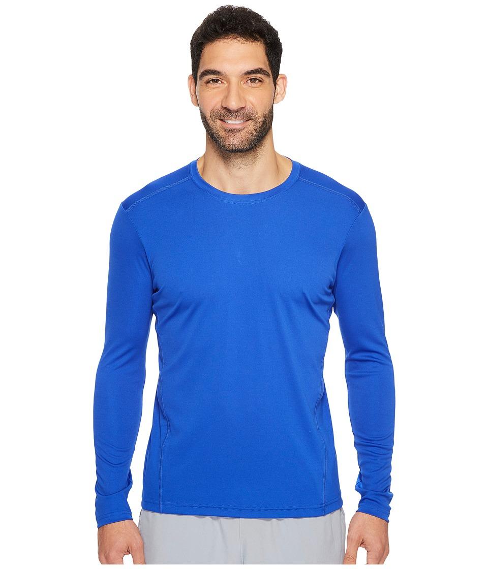 adidas Climalite Single Long Sleeve Crew (Bold Blue) Men