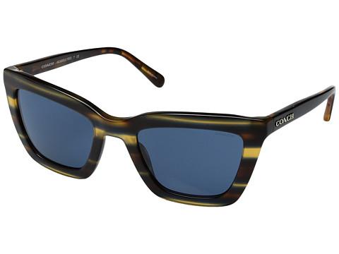 COACH 0HC8203 57mm - Blue Honey Varsity Stripe/Blue Solid