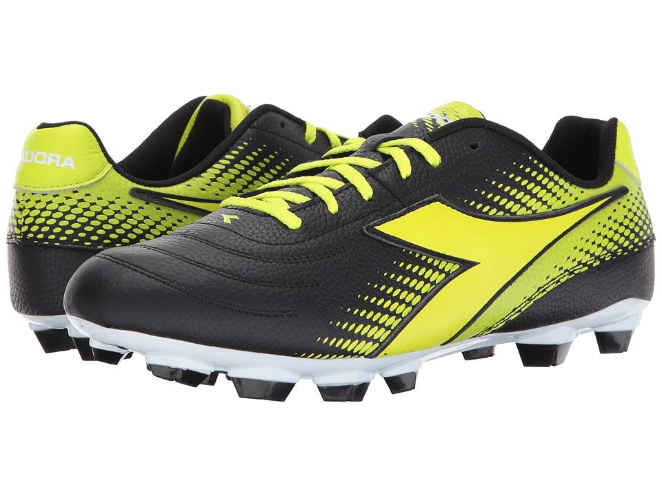 Diadora Mago L LPU (Black/Yellow Flourescent) Soccer Shoes