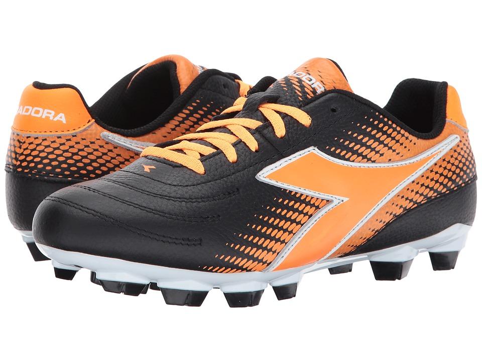 Diadora Mago L W LPU (Black/Orange) Women's Soccer Shoes