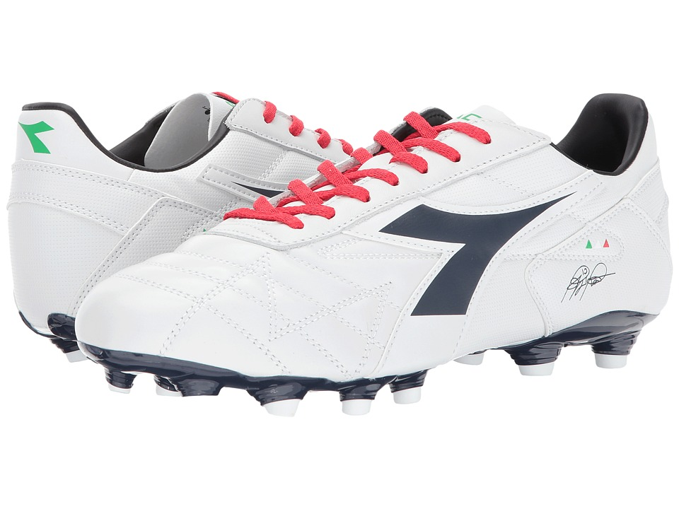 Diadora M. Winner RB LT MG14 (White/Corsair) Soccer Shoes