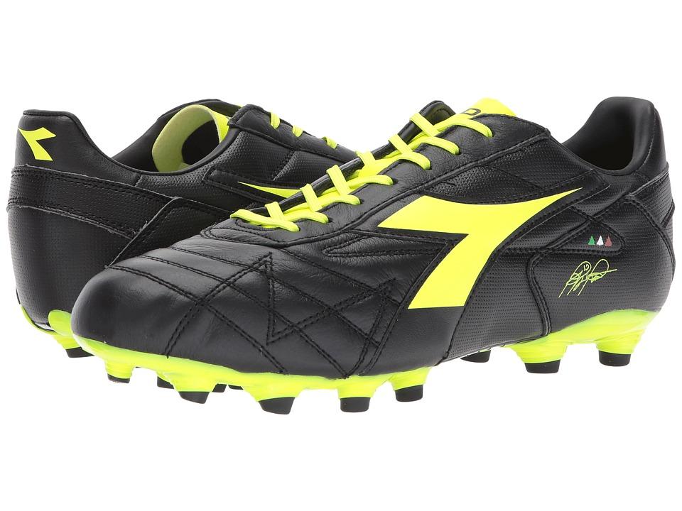 Diadora M. Winner RB K-Plus MG14 (Black/Yellow Flourescent) Soccer Shoes