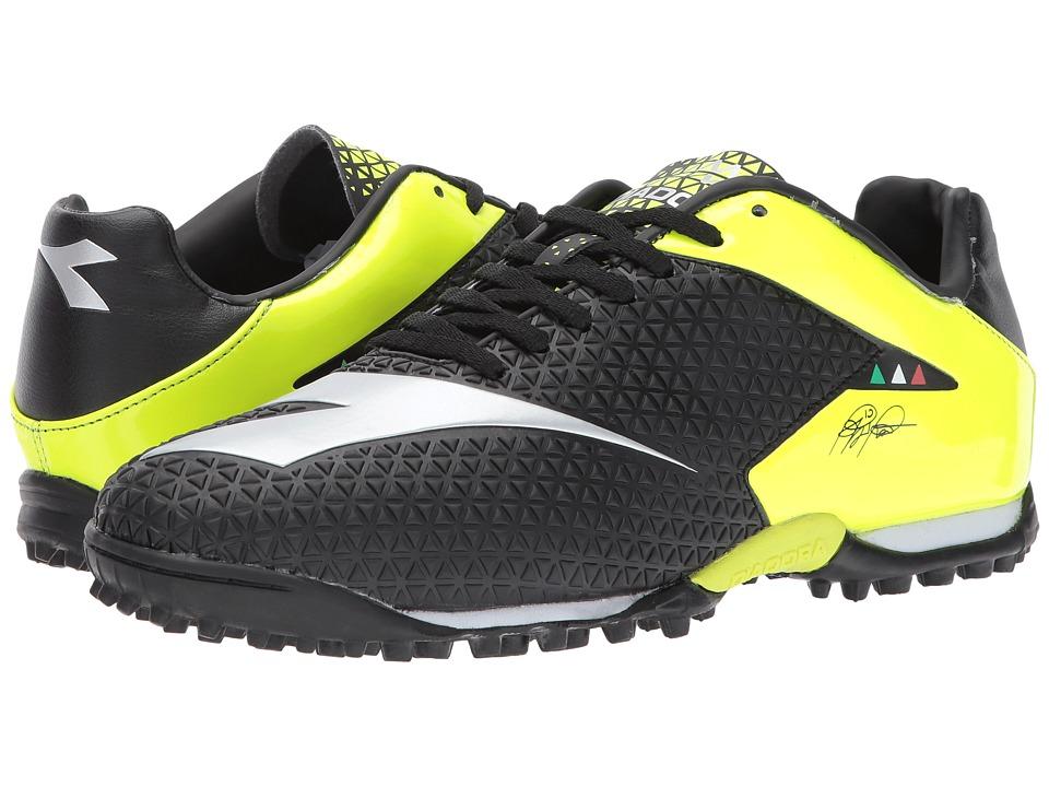 Diadora MW-Tech RB R TF (Black/Yellow Flourescent) Soccer Shoes