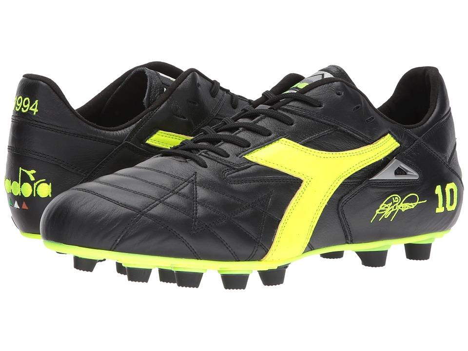 Diadora M. Winner RB Italy OG (Black/Yellow Flourescent) Soccer Shoes