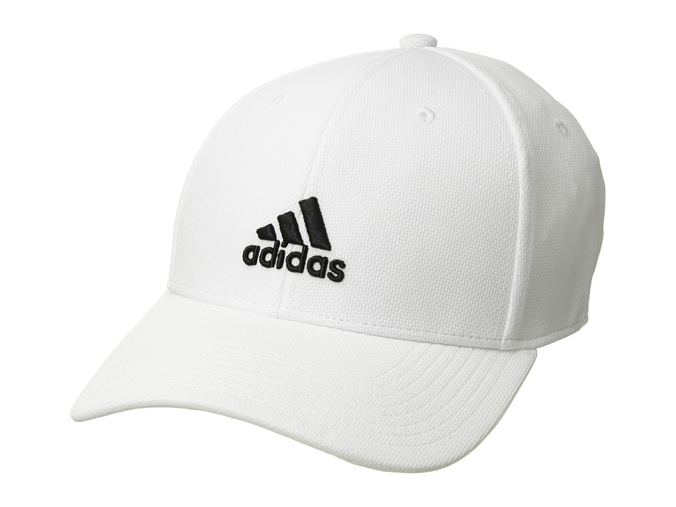 adidas Rucker Stretch Fit (White/Black) Caps