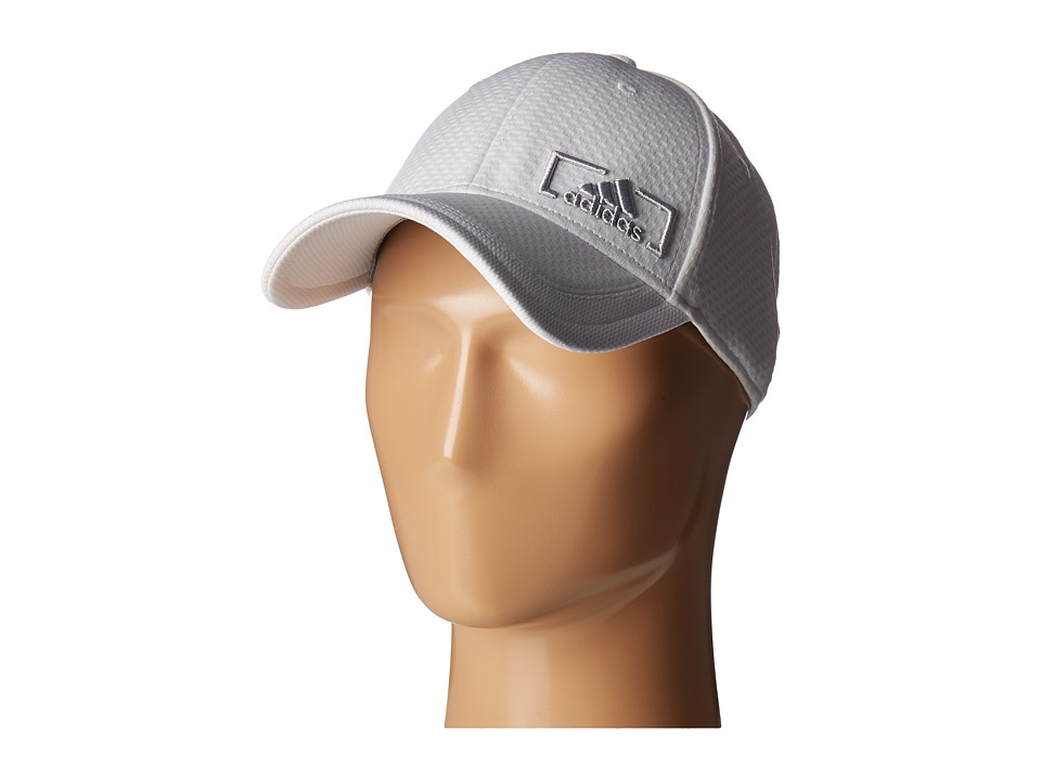 adidas Amplifier Stretch Fit (White/Clear Grey) Caps