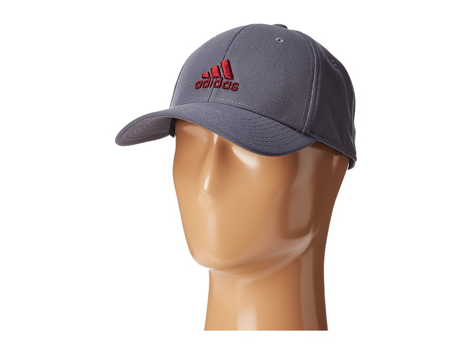 adidas Rucker Stretch Fit (Onix/Collegiate Burgundy/Grey) Caps