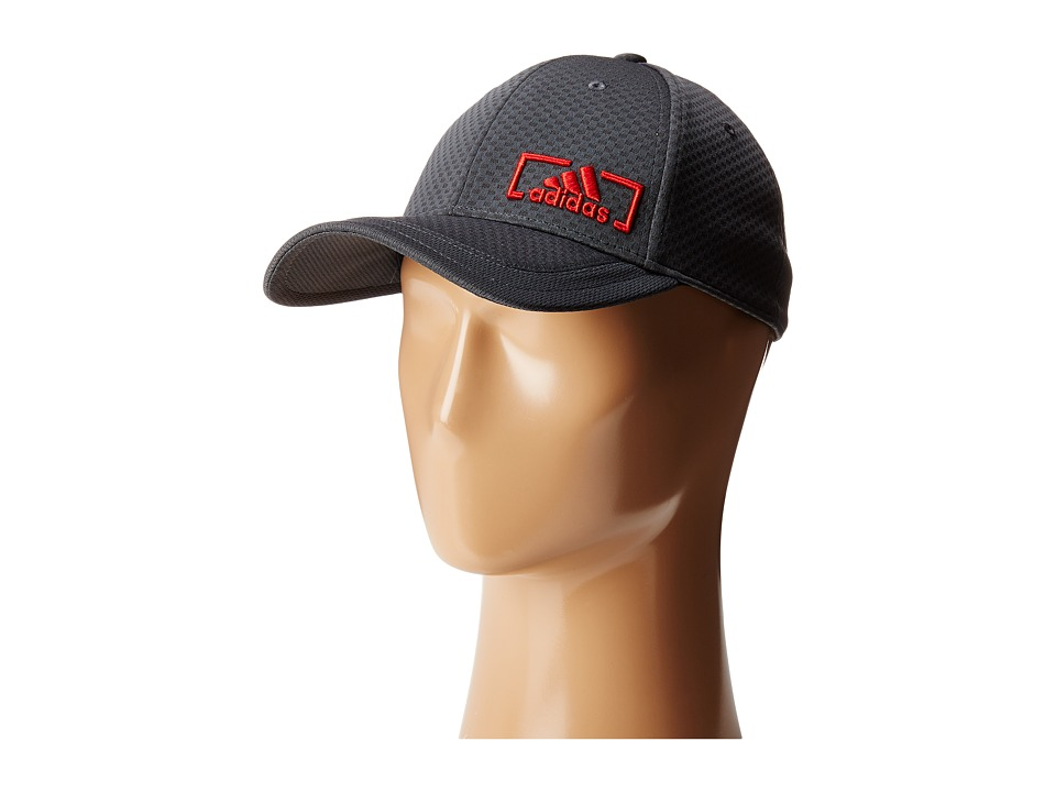 adidas Amplifier Stretch Fit (Night Grey/Scarlet) Caps