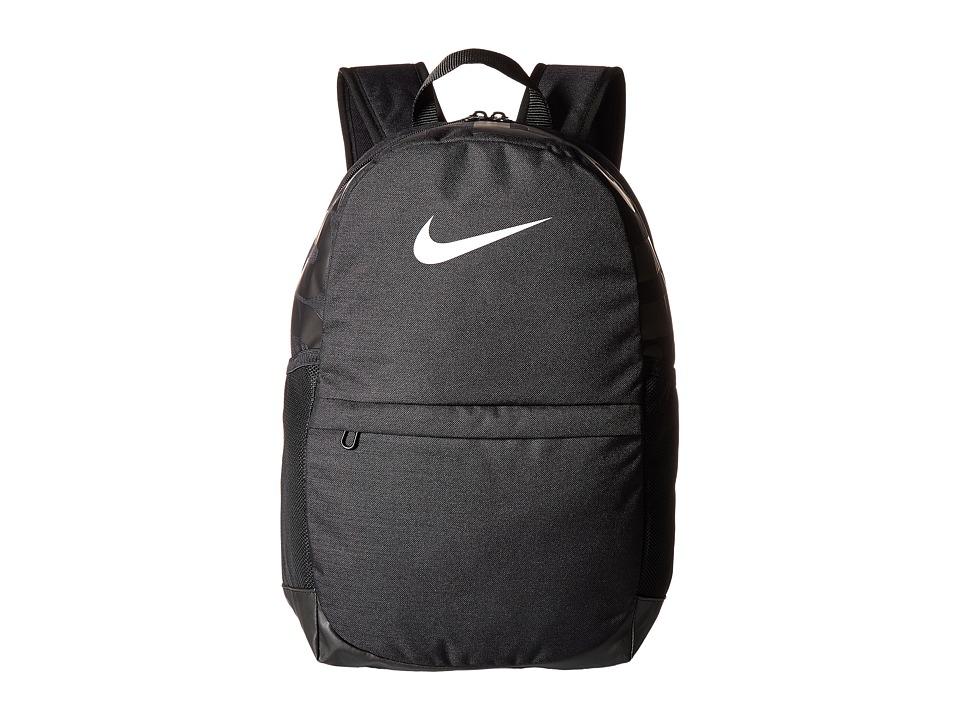 Nike Brasilia Backpack (Little Kids/Big Kids) (Black/Black/White) Backpack Bags