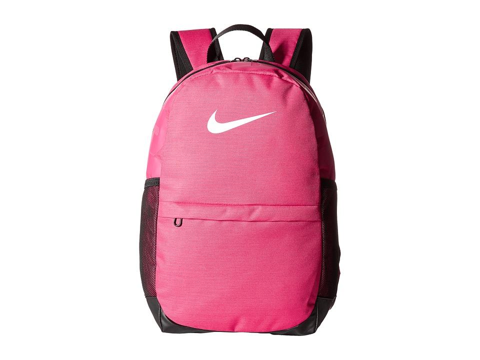 Nike Brasilia Backpack (Little Kids/Big Kids) (Rush Pink/Black/White) Backpack Bags