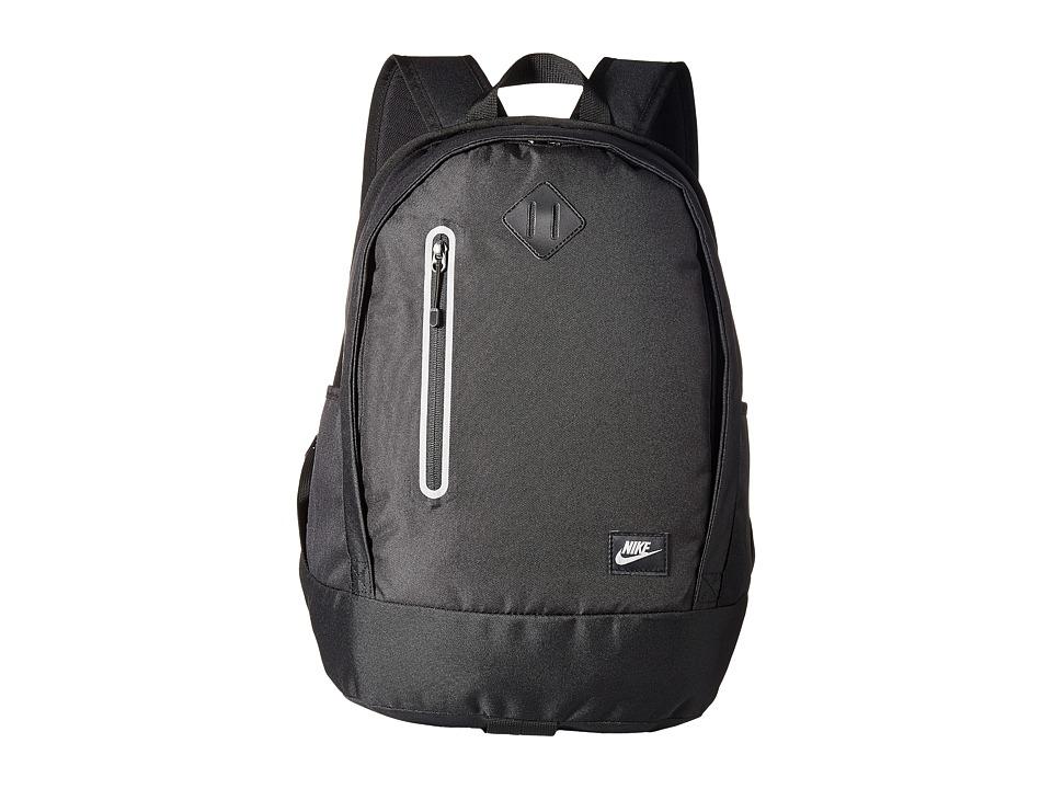 Nike Cheyenne Solid Backpack (Little Kids/Big Kids) (Black/Black/Matte Silver) Backpack Bags