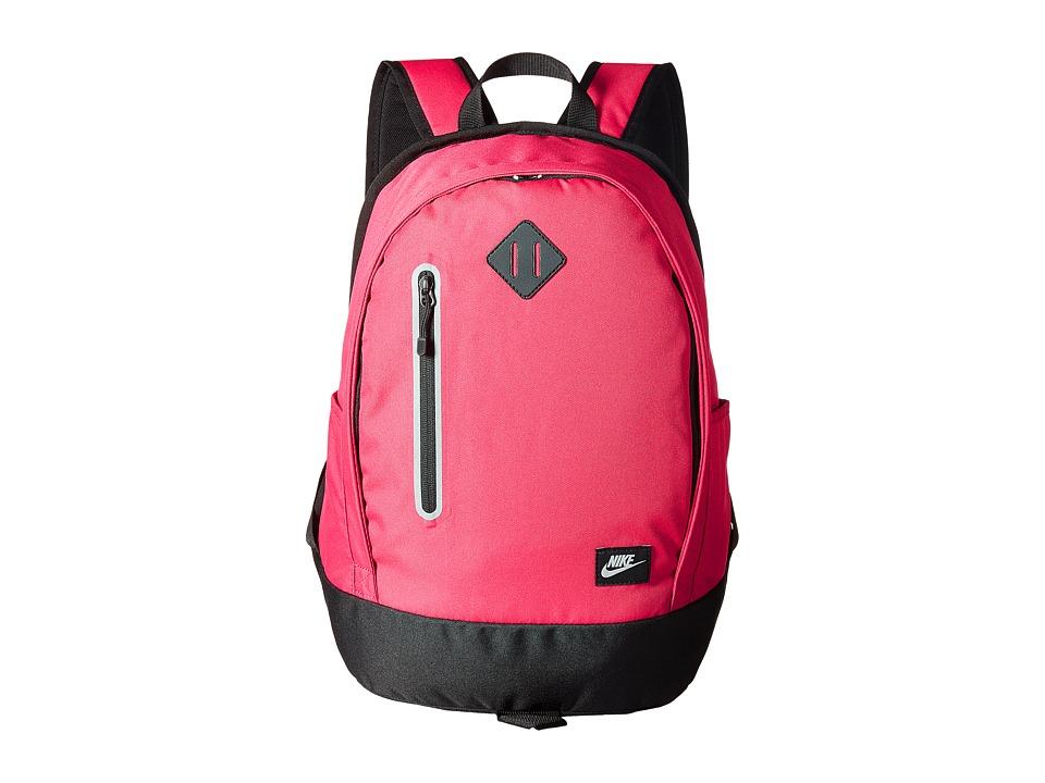 Nike Cheyenne Solid Backpack (Little Kids/Big Kids) (Rush Pink/Black/Matte Silver) Backpack Bags