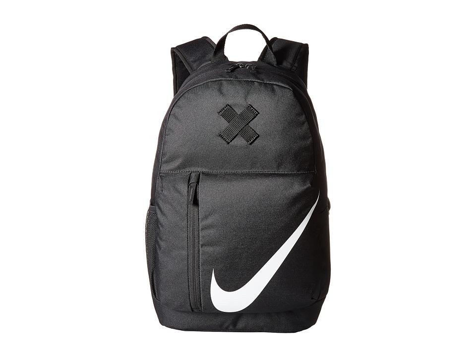 Nike Elemental Backpack (Little Kids/Big Kids) (Black/Black/White) Backpack Bags