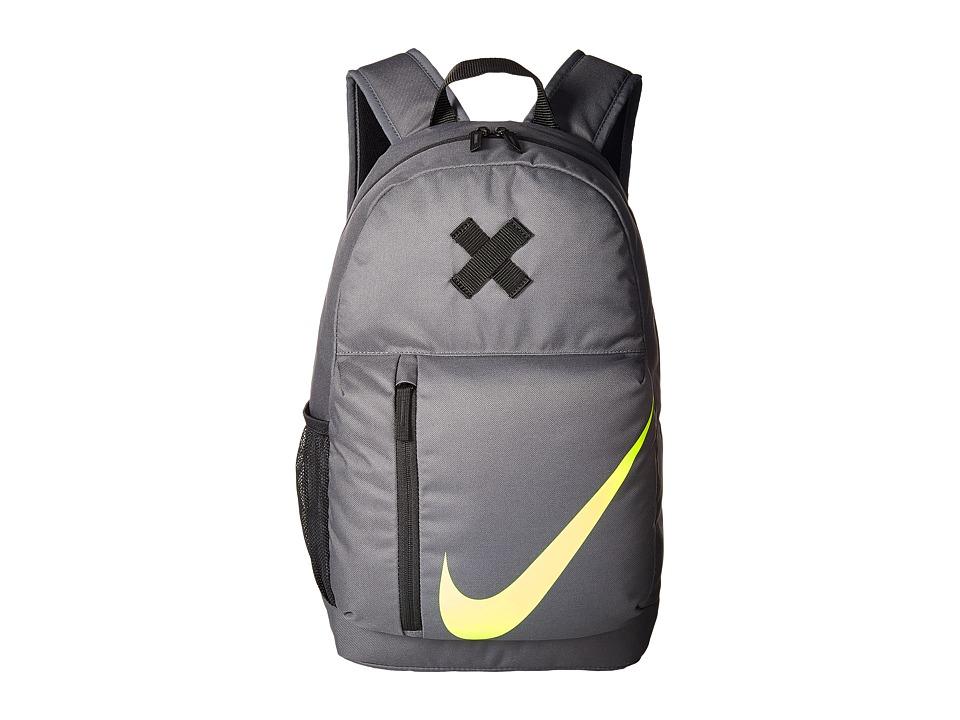 Nike Elemental Backpack (Little Kids/Big Kids) (Dark Grey/Black/Volt) Backpack Bags