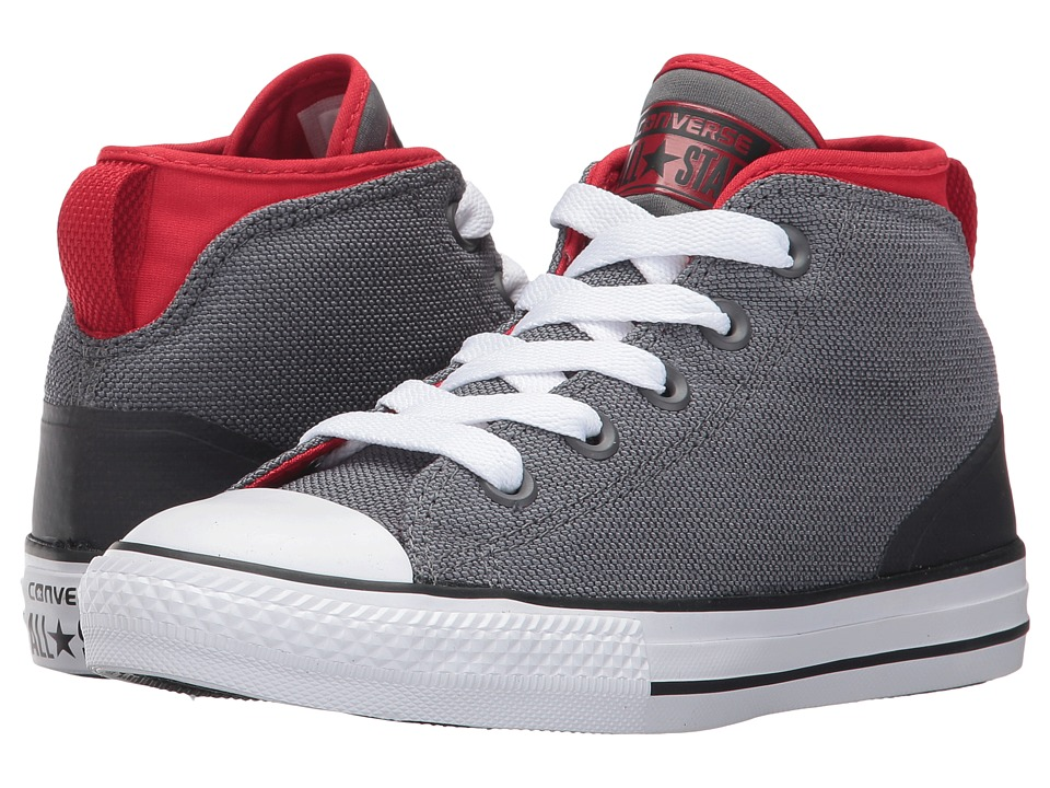 Converse Kids - Chuck Taylor All Star Syde Street Mid (Little Kid) (Thunder/Casino/White) Kids Shoes