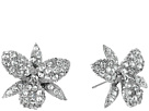Nina Nina Pave Small Orchid Earrings