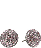 Nina - Small Pave Button Earrings