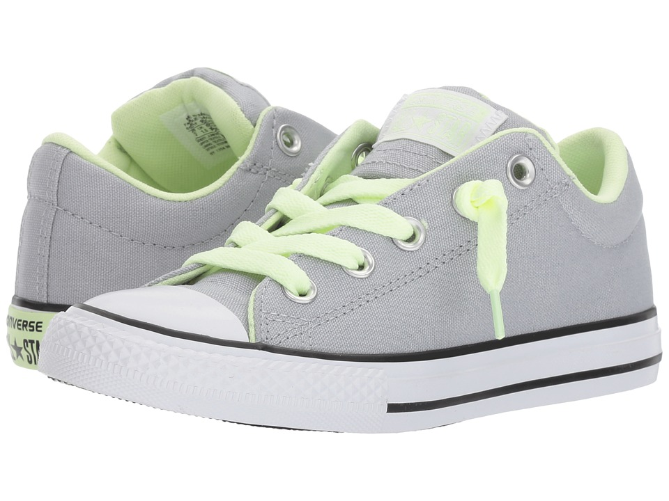 Converse Kids Chuck Taylor All Star Street Slip (Little Kid) (Wolf Grey/Barely Volt/White) Kids Shoes
