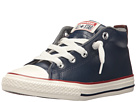Converse Kids Chuck Taylor All Star Street Leather and Fleece Mid (Little Kid/Big Kid)