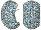 Nina - Pave Half Hoop Earrings