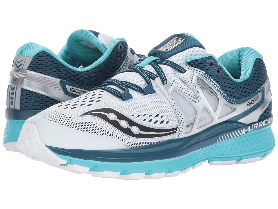 Saucony Hurricane ISO 3 (White/Teal) Women